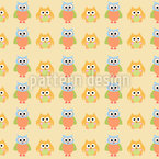 Criss Cross Owls Seamless Pattern
