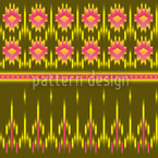 Multicultural Ikat Vector Ornament