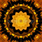 Star In Kaleidoscope Seamless Vector Pattern Design