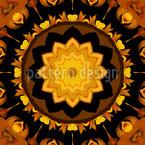 Estrela em Caleidoscópio Design de padrão vetorial sem costura