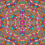 Kaleidoscope Expression Seamless Vector Pattern Design