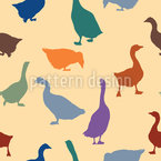 Gabbling Geese Seamless Vector Pattern Design