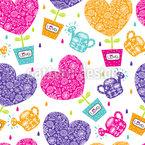 Herzen Brauchen Wasser Und Liebe Muster Design