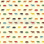 The Horse Nation Seamless Vector Pattern Design