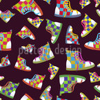 Sneackers Seamless Vector Pattern Design