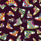 Sneakers Nahtloses Vektormuster