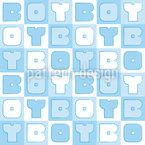 Boy Sudoku Seamless Vector Pattern