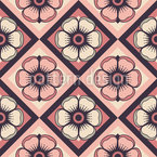 Checkerboard Floralia Seamless Vector Pattern Design