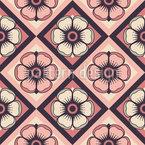 Schachbrett Floralia Nahtloses Vektormuster
