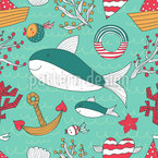 Jacobs Ocean Crossing Seamless Vector Pattern Design