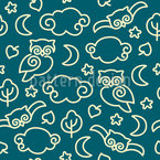 Night Owls Seamless Vector Pattern Design