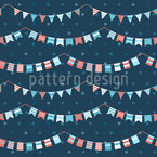 Funny Garlands Seamless Vector Pattern Design