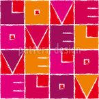 Amor Velo Design de padrão vetorial sem costura
