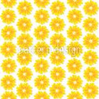Blumen Der Sonne Nahtloses Vektormuster