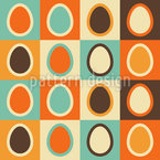 Retro Eggs Repeating Pattern
