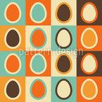 Retro Eier Rapportiertes Design