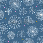Magic Crystal Circles Seamless Vector Pattern