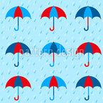 Les Parapluis En Hiver Nahtloses Vektormuster