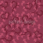 Angeli Rosso Seamless Vector Pattern Design