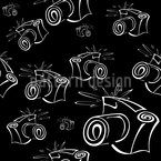 Flash Light Camera Seamless Vector Pattern Design