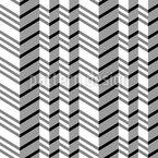 Zig Zag Design de padrão vetorial sem costura
