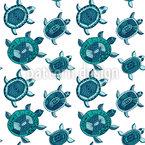 Die Fantastische Reise Der Smaragdschildkröten Nahtloses Vektor Muster
