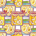 Stewed Fruits In The Glass Vector Pattern