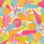 The Summer In The Sea Seamless Vector Pattern Design
