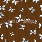 Schmetterling Erinnerung Nahtloses Vektormuster