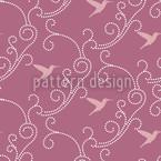 Lavendel-Kolibris Nahtloses Vektormuster