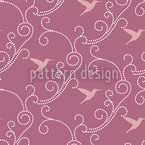 Lavender Hummingbird Seamless Vector Pattern Design