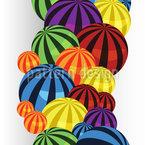 Ball Reihen Vektor Muster