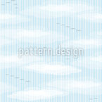 Birds In The Clouds Seamless Vector Pattern Design