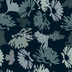 The Garden Blues Seamless Vector Pattern Design