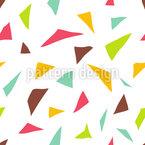 Dreieckige Confetti Nahtloses Vektor Muster