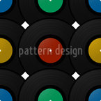 Record Disk Seamless Vector Pattern Design