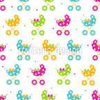 Stroller Fun Seamless Vector Pattern Design