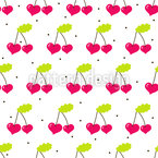 Heartcherry Seamless Vector Pattern Design
