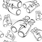 Binoculars Look Out Seamless Vector Pattern Design