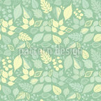 Variety Of Leaves Seamless Vector Pattern Design