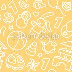 Toddler Toys Seamless Vector Pattern Design