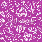 Kids Birthday Seamless Vector Pattern Design