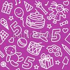 Kinder Geburtstag Nahtloses Vektormuster