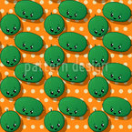 Kawaii Watermelon Seamless Vector Pattern Design
