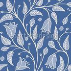 Bluebells Fantasia Design de padrão vetorial sem costura