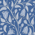 Bluebells Fantasy Seamless Vector Pattern Design