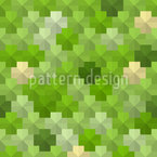 Pentagon pixels In the grass Repeat