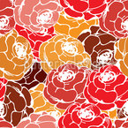 ローズ石鹸 シームレスなベクトルパターン設計