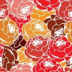 Rosen Seifen Nahtloses Vektormuster