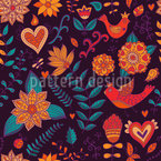 The Secret Of Pandora Gardens Seamless Vector Pattern Design